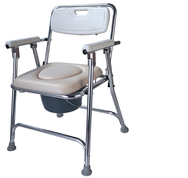 Buy Aluminum Padded Folding Bedside Toilet Chair With Soft