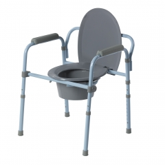 Commode chair with toilet surround
