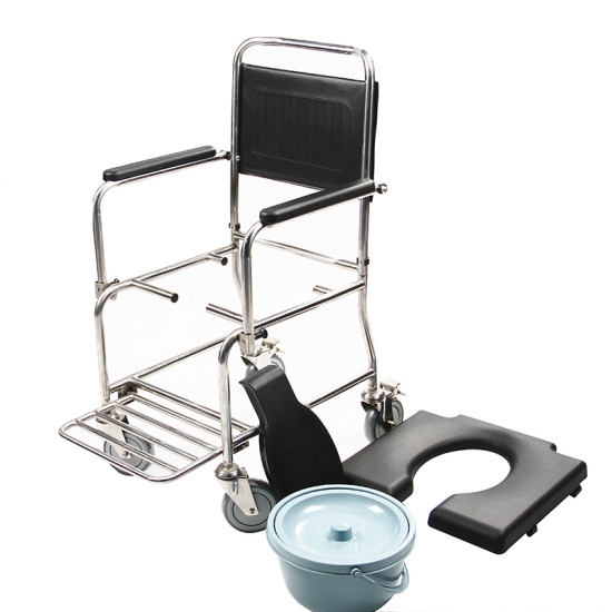 Buy Bathroom Equipment 3 In 1 Shower Commode Chair With Wheels For ...