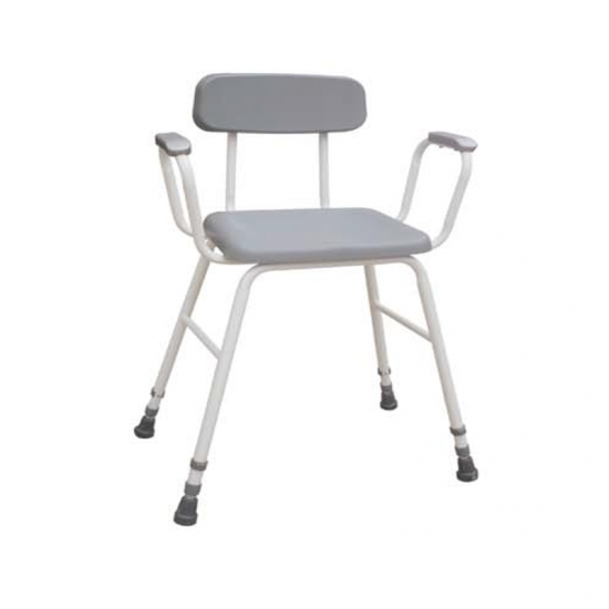 Buy Waterproof Pu Shower Stool Chair With Arms And