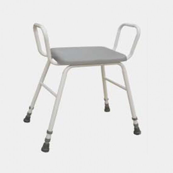 Buy Waterproof PU Shower Stool Chair With Arms And Backrest ...
