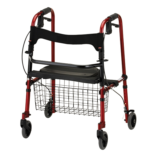 Buy Medical Foldable Walkers Chair With Wheels And Seat