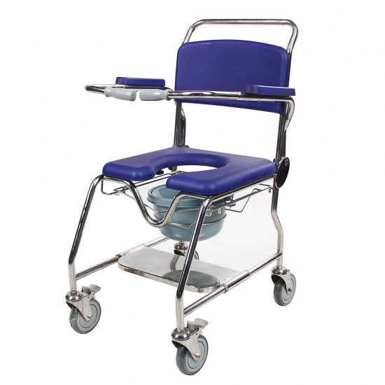 Buy Rehab Rolling Shower Commode Wheelchair Chairs For Disabled ...