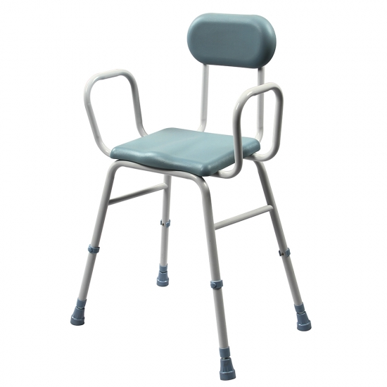 Buy Disabled Adjustable PVC Shower Stool With Handles And Back ...