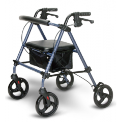 folding rollator walker with seat